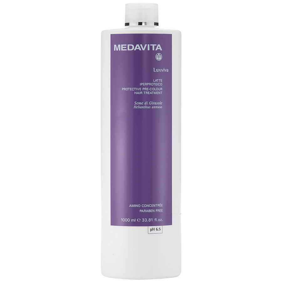 Protective pre-colour hair treatment